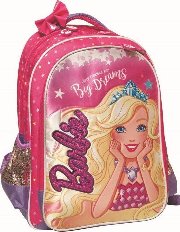 Gim Τσάντα Πλάτης Δημοτικού Barbie + Δώρο Κούκλα Barbie