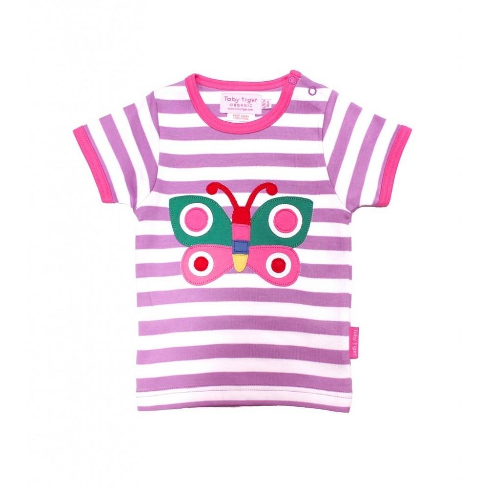 Toby Tiger Μπλουζάκι Πεταλούδιτσα Ροζ