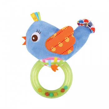 RATTLE WITH RING BIRD