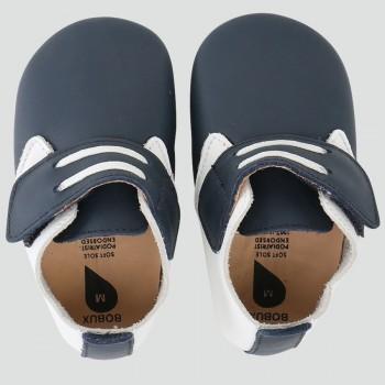 βρεφικά Δερμάτινα Παπούτσια Soft sole Dockside Navy / White-Small