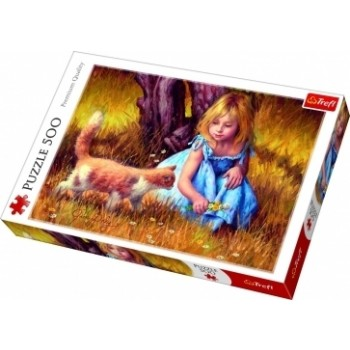 TREFL PUZZLE 500PCS IN THE CENTER OF ATTENTION