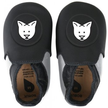 BOBUX SOFT SOLE ΠΑΠΟΥΤΣΑΚΙΑ BLACK WHITE CAT small
