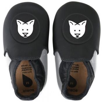 BOBUX SOFT SOLE ΠΑΠΟΥΤΣΑΚΙΑ BLACK WHITE CAT small