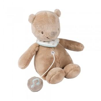 MIA & BASILE. Υφασμάτινο μίνι μουσικό αρκουδάκι Basile