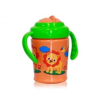 HANDLE CUP WITH STRAW 270 ML ZOO
