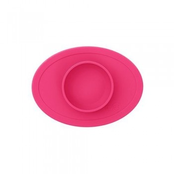 Ezpz Δίσκος και πιάτο σε ένα Tiny Bowl Pink