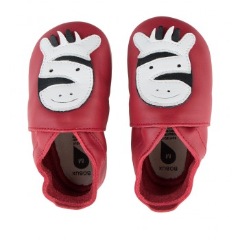 Βρεφικά Δερμάτινα Παπούτσια Soft sole Red Zebra