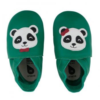 Βρεφικά Δερμάτινα Παπούτσια Soft sole Emerald Panda