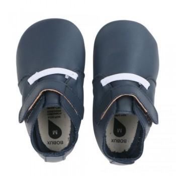 Βρεφικά Δερμάτινα Παπούτσια Soft sole Navy Grass Court