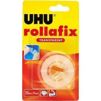 UHU Rollafix Διάφανη Κολλητική Ταινία Ανταλλακτικό 25x19mm