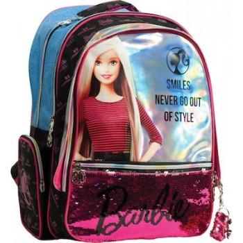 Gim - Τσάντα Δημοτικού Οβάλ Barbie Denim Fashion 349-66031