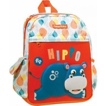 Fisher Price Hippo Σχολική Τσάντα Πλάτης Νηπιαγωγείου Μ25 x Π15 x Υ30cm