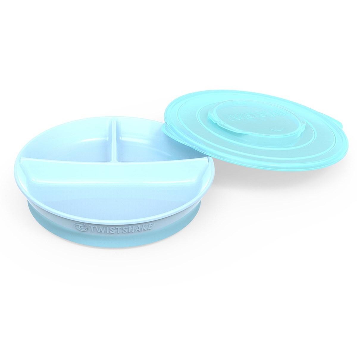 Twistshake Πιάτο Φαγητού Με Διαχωριστικά Divided Plate 6+M Γαλάζιο