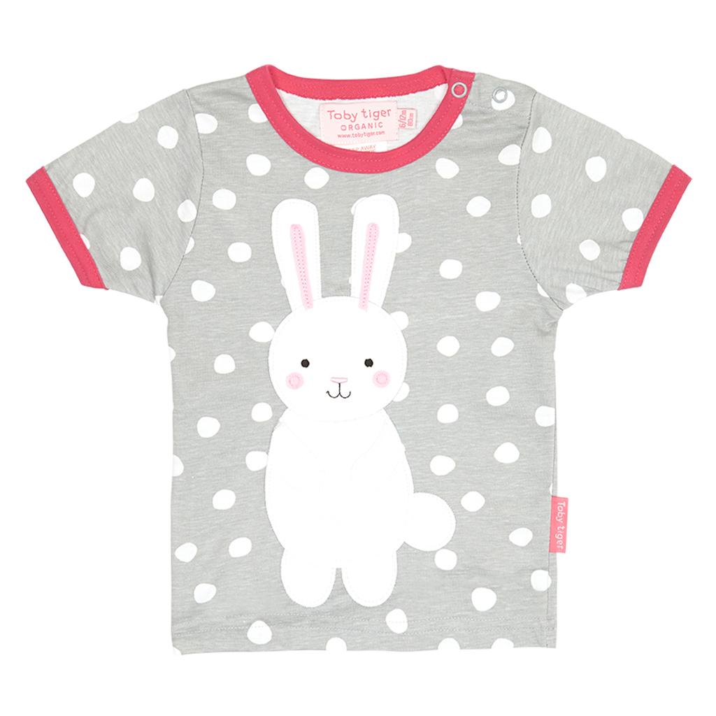 Toby Tiger Παιδική Μπλούζα Με Κουνελάκι Γκρι-Λευκό