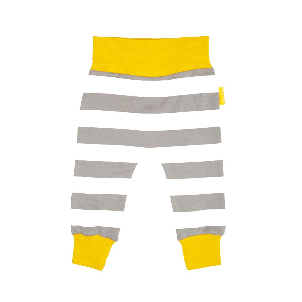 Toby Tiger Παιδικό Παντελόνι Ριγέ Baby Yoga Γκρι-Λευκό